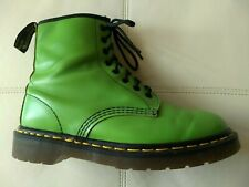 DOC DR MARTENS LIME GREEN LEATHER BOOT MADE IN ENGLAND RARE VINTAGE UNISEX 6.5UK