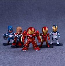 5 Pcs Marvel Avengers Iron Man Captain America Thor Action Figure Statue Model