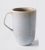 TEA COFFEE MUG CUP - PLUM GLAZED PORCELAIN - BRAND NEW
