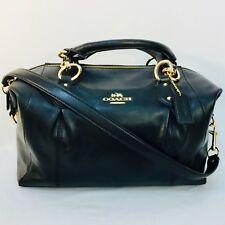 NWOT COACH handbag, satchel, glovetanned leather, black