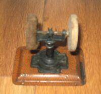 Antique Early Steam Engine Accessory Ernst Plank German Grinder Buffer Base Vtg