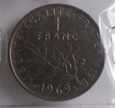 1 franc semeuse 1969 : B : pièce de monnaie française