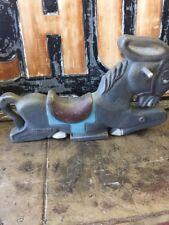 Saddle Mates Old Aluminum Playground Ride On Donkey