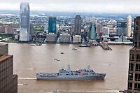 Photo Amphibious transport Ship USS New York Sails by the World Trade Center