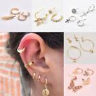 Big Small Round Hoops Ring Earrings Women Girls Earings Bling Set Gold Silver CY