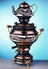 Copper Hand Painted Electric Samovar Tea Kettle