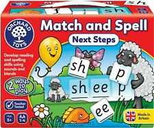 Orchard Toys MATCH & SPELL NEXT STEPS Educational Game Puzzle BNIP