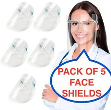 5 PACK Full Face Shield Visor Protection Mask Sheild Safety Clear Anti fog PPE