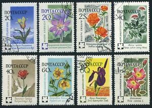 Russia 2408-2415,CTO.Michel 2418-2425. Asiatic Flowers,1960.
