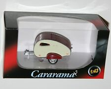 Cararama - CARAVAN TEARDROP (White / Red) Model Scale 1:43