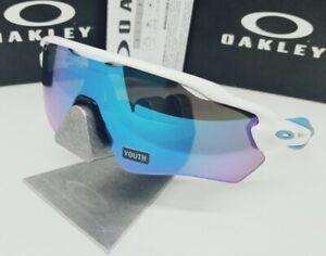 *(YOUTH)* OAKLEY white/sapphire iridium RADAR EV XS PATH sunglasses! *(defect)*