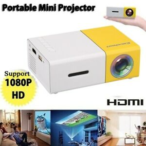 2021 New Mini Projector Pocket LED Home Cinema HD 1080P Portable Cinema HDMI USB