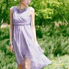 Création! Robe asymétrique en voile fluide romantique T.38 - 40 32150053