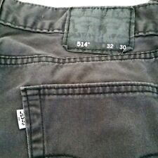 Levis 514 Mens 32 x 30 Gray Jeans White Tab SF California Straight Fit Pants