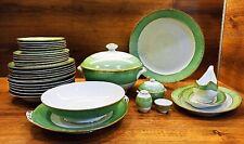 """Dinnerware set """"Jade ribbon"""" LFZ Lomonosov 1950 Rare 35 items ORIGINAL RARE"""