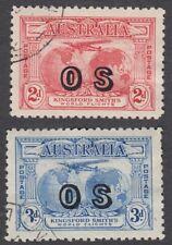 Kingsford Smith pair overprinted OS CTO used.