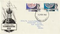 15 NOVEMBER 1965 INT TELECOMMUNICATIONS NON PHOS FIRST DAY COVER FDI CANCEL