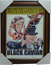 Black Caviar Royal Ascot Limited Edition Print Framed Luke Nolen Peter Moody