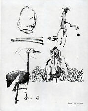 DUCKS B/W PRINT Jeff Jones 1982
