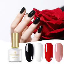 4Bottles/Set UV Gel Nail Polish Soak Off Red Black White   Varnish