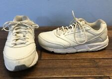 Brooks Addiction Walker Dad Shoes Men's 8 Extra Wide 4E White Leather Sneakers