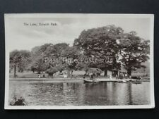 London: The Lake Dulwich Park, shows Rowing Boat Hire, Old Postcard by F.A.Finch