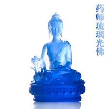 Glazed Buddha statue Blue pharmacist Buddha Fengshui for the ornament of Buddha