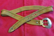 "Vintage Brass Mesh Wire Belt w/ Brass Buckle 35.5"" Long - Rare!"