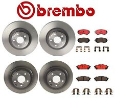 Brembo Front Rear Full Brake Kit Coated Disc Rotors Ceramic Pads For Saab Subaru