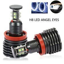 2 x 80W H8 CREE LED Angel Eyes DRL Light For BMW E60 E61 E71 E70 LCI E90 E91 X5