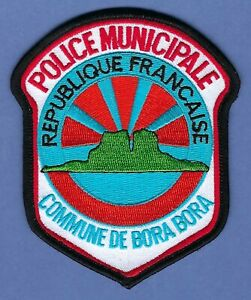 COMMUNE DE BORA BORA POLICE MUNICIPALE REPUBLIQUE FRANCAISE PATCH