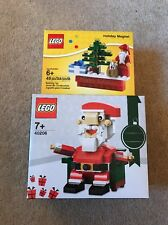 Lego - Christmas Holiday Magnet Scene 853353 & Santa 40206 - New & Genuine sets