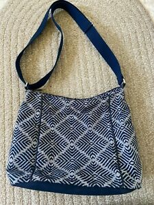 Thirty One Free To Be Carry All Purse Sling Crossbody bag 31 Navy Adjust Strap