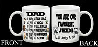 Personalised STAR WARS Mug Dad Daddy Step Grandad Fathers Day Hero Gift Present