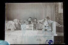 1Stück alte Glasplatten negative um 1900 Puppen Spielzeug