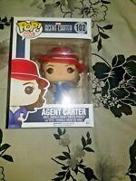 Funko POP Marvel Agent Carter W/Gold Orb #102 Exclusive Vinyl Figure