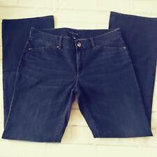 ELIE TAHARI Dark Blue Stretch Denim Skinny Boot Cut JOEY Jeans size US 12