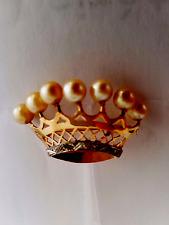 ESTATE ELEGANT Brooch pearl   pin  18k  gold