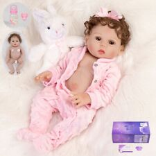 "Anatomically 18"" Realistic Reborn Newborn Baby Dolls Soft Vinyl Girl Doll Xmas"