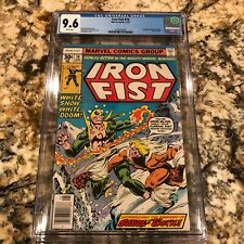 IRON FIST #14 CGC 9.6 WHITE PAGES SUPER HIGH END NEWSSTAND FRESH 1ST SABRETOOTH
