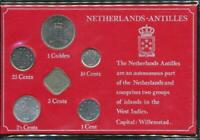 Netherlands Antilles 1985 year set of 6 Uncirculated Coins Carded