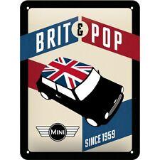 MINI BRIT POP  Blechschild 15x20 cm  - Sign Signs Werkstatt  26186 BMW