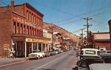 VIRGINIA CITY LAS VEGAS NEVADA OLD WASHOE CLUB CARS POSTCARD (1960s)