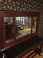 Antique Buffet Wood Framed Mirror