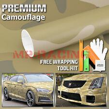 Premium Desert Camouflage Camo Car Vinyl Wrap Sticker Decal Air Release Bubble