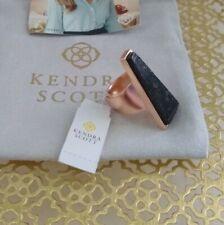 Kendra Scott Collins Cocktail Ring Sz 7 - Black Granite/rose Gold