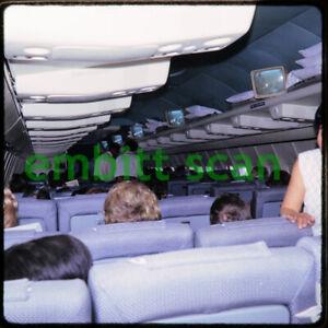 Original Slide, Pan Am Boeing 707 Cabin Scene, 1966