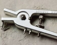 Bergeon 6160 vintage chronograph pushers pliers for watchmaker 3 punches Swiss