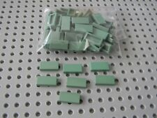 Lego Lot of New 1 x 2 Sand Green Tiles - New Condition!!