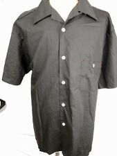 Route 66 Black Cotton Rockabilly Hot Rod Kustom Craft Short Sleeve Shirt XXXL